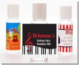 Musical Notes Black and White - Personalized Birthday Party Hand Sanitizers Favors