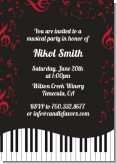 Musical Notes Black and White - Birthday Party Invitations