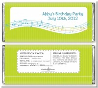 Musical Notes Colorful - Personalized Birthday Party Candy Bar Wrappers