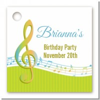Musical Notes Colorful - Personalized Birthday Party Card Stock Favor Tags