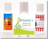 Musical Notes Colorful - Personalized Birthday Party Hand Sanitizers Favors