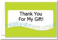 Musical Notes Colorful - Birthday Party Thank You Cards