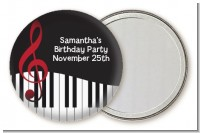 Musical Notes Black and White - Personalized Birthday Party Pocket Mirror Favors