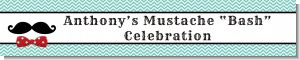 Mustache Bash - Personalized Birthday Party Banners