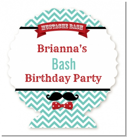Mustache Bash - Personalized Birthday Party Centerpiece Stand