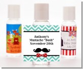 Mustache Bash - Personalized Birthday Party Hand Sanitizers Favors