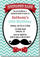 Mustache Bash - Birthday Party Invitations