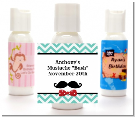 Mustache Bash - Personalized Birthday Party Lotion Favors