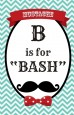 Mustache Bash - Personalized Birthday Party Wall Art thumbnail