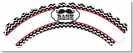Little Man Mustache Black/Grey - Baby Shower Cupcake Wrappers