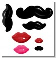 Little Man Mustache - Baby Shower Smooches & Mustaches Shaped Cut-outs thumbnail