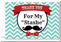 Mustache Bash - Birthday Party Thank You Cards
