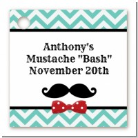 Mustache Bash - Personalized Birthday Party Card Stock Favor Tags
