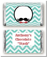 Mustache Bash - Personalized Birthday Party Mini Candy Bar Wrappers