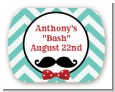 Mustache Bash - Personalized Birthday Party Rounded Corner Stickers thumbnail