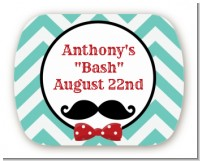 Mustache Bash - Personalized Birthday Party Rounded Corner Stickers