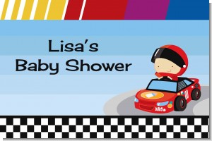 Nascar Inspired Racing - Personalized Baby Shower Placemats