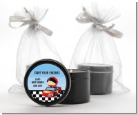 Nascar Inspired Racing - Baby Shower Black Candle Tin Favors