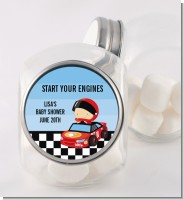 Nascar Inspired Racing - Personalized Baby Shower Candy Jar