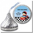 Nascar Inspired Racing - Hershey Kiss Baby Shower Sticker Labels thumbnail