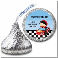 Nascar Inspired Racing - Hershey Kiss Baby Shower Sticker Labels