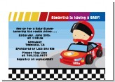 Nascar Inspired Racing - Baby Shower Petite Invitations