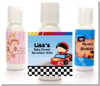 Nascar Inspired Racing - Personalized Baby Shower Lotion Favors
