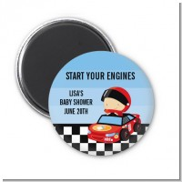 Nascar Inspired Racing - Personalized Baby Shower Magnet Favors