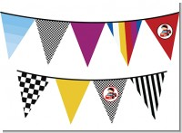 Nascar Inspired Racing - Baby Shower Themed Pennant Set