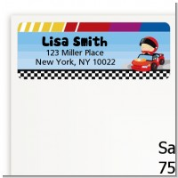 Nascar Inspired Racing - Baby Shower Return Address Labels