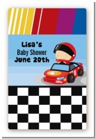 Nascar Inspired Racing - Custom Large Rectangle Baby Shower Sticker/Labels