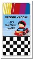 Nascar Inspired Racing - Custom Rectangle Baby Shower Sticker/Labels