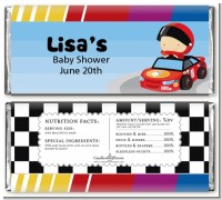 Nascar Inspired Racing - Personalized Baby Shower Candy Bar Wrappers