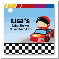 Nascar Inspired Racing - Personalized Baby Shower Card Stock Favor Tags