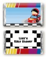 Nascar Inspired Racing - Personalized Baby Shower Mini Candy Bar Wrappers thumbnail