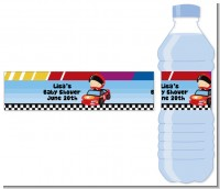 Nascar Inspired Racing - Personalized Baby Shower Water Bottle Labels