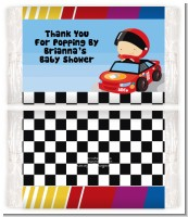 Nascar Inspired Racing - Personalized Popcorn Wrapper Baby Shower Favors