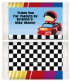 Nascar Inspired Racing - Personalized Popcorn Wrapper Baby Shower Favors thumbnail