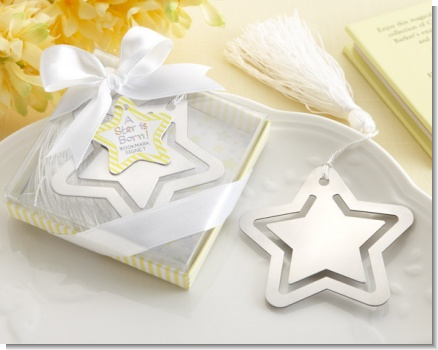 A Star Is Born! Metal Bookmark with White Silk Tassel
