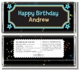 Neon Blue Glow In The Dark - Personalized Birthday Party Candy Bar Wrappers thumbnail