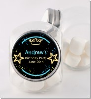 Neon Blue Glow In The Dark - Personalized Birthday Party Candy Jar