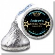 Neon Blue Glow In The Dark - Hershey Kiss Birthday Party Sticker Labels thumbnail
