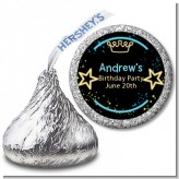 Neon Blue Glow In The Dark - Hershey Kiss Birthday Party Sticker Labels
