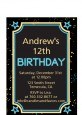 Neon Blue Glow In The Dark - Birthday Party Petite Invitations thumbnail