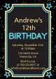 Neon Blue Glow In The Dark - Birthday Party Invitations thumbnail