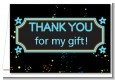 Neon Blue Glow In The Dark - Birthday Party Thank You Cards thumbnail