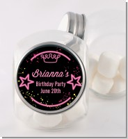 Neon Pink Glow In The Dark - Personalized Birthday Party Candy Jar