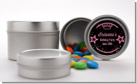 Neon Pink Glow In The Dark - Custom Birthday Party Favor Tins