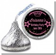 Neon Pink Glow In The Dark - Hershey Kiss Birthday Party Sticker Labels thumbnail