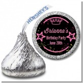 Neon Pink Glow In The Dark - Hershey Kiss Birthday Party Sticker Labels